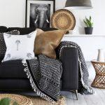 накидка на диван шерстяной плед