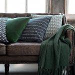 накидка на диван зеленая