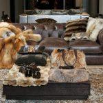 плед на диван меховой