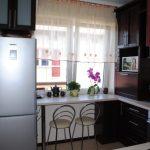 подоконник столешница в маленькой кухне