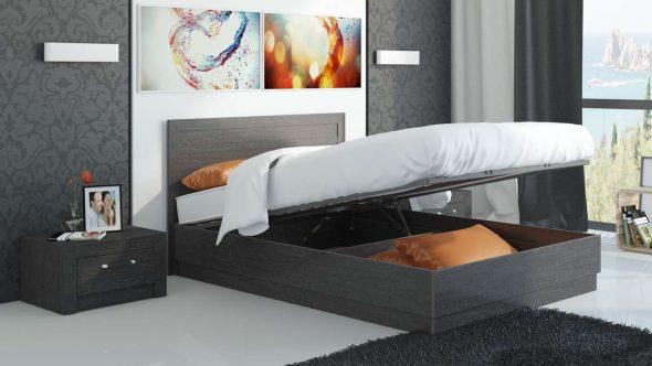 подъемная кровать с нижним хранилищем
