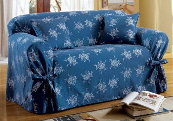 примеры красивых чехлов на диваны