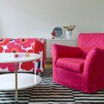 розовый чехол для кресла