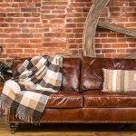 шикарный кожаный диван