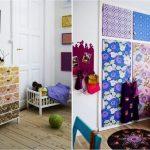 шкаф декорированный тканью