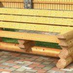 скамья из дерева