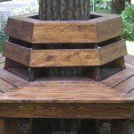 скамья вокруг дерева