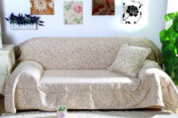 сшить чехол на резинке на диван своими руками