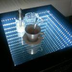 стол с эффектом бесконечности дизайн