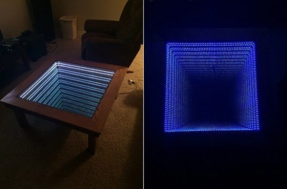 стол с эффектом бесконечности своими руками