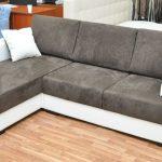 угловой диван из искусственной замши