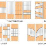 варианты комбинирования фасадов шкафа-купе