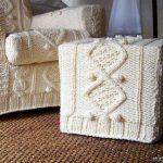 вязаные чехлы для мебели