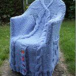 вязаные чехлы на кресла