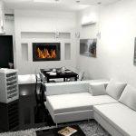 белая мебель и черный в сочетании