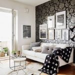 белая мебель с черным цветом