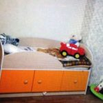 Детская кровать с защитным бортиком + ортопедический матрас