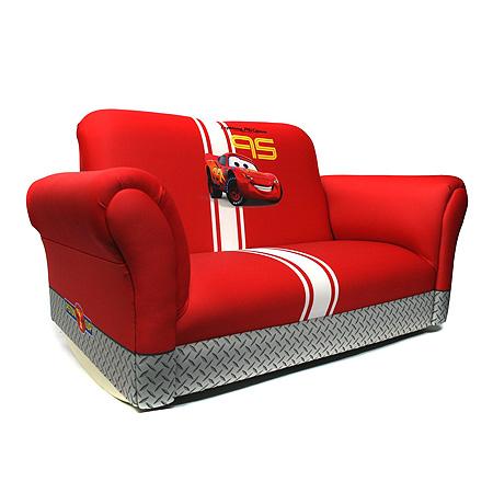 Детский диван-кровать для мальчика с тачками