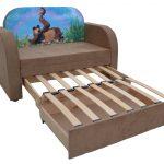 Детский диван-кровать с коробом для хранения Рио Маша и медведь