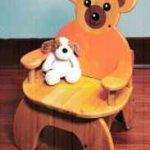 Детский стульчик. Мишка