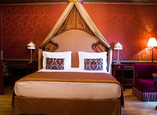 Дизайн спальни с балдахином
