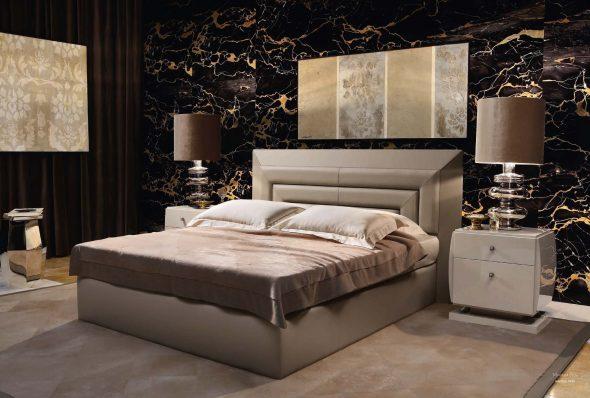 Двуспальная кровать в современном стиле