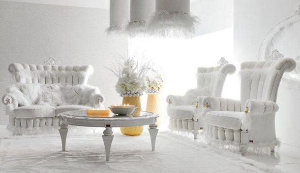 белая гостиная тиффани