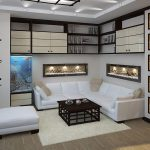 белая мебель в небольшой гостиной