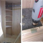 Этапы строительства углового шкафа из вагонки