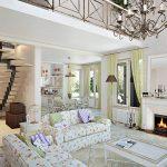 белая мебель в интерьере прованс