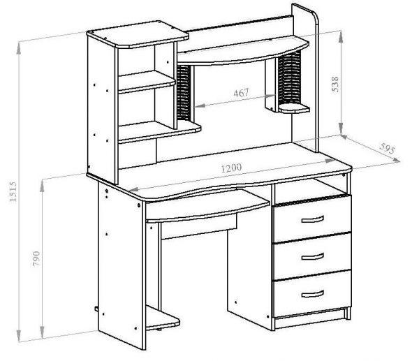 Компьютерный стол КС-10М