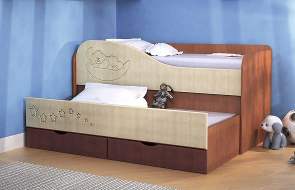 Кровать 2-х ярусная Мишка