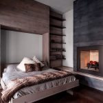 кровать деревянная спальня фото