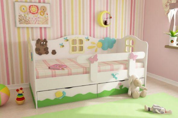 Кровать из ДСП для детей от 3 лет