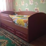 детская кровать с бортиками из МДФ