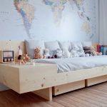 кровать деревянная современный стиль