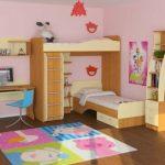 Мебель в детской комнате для девочки