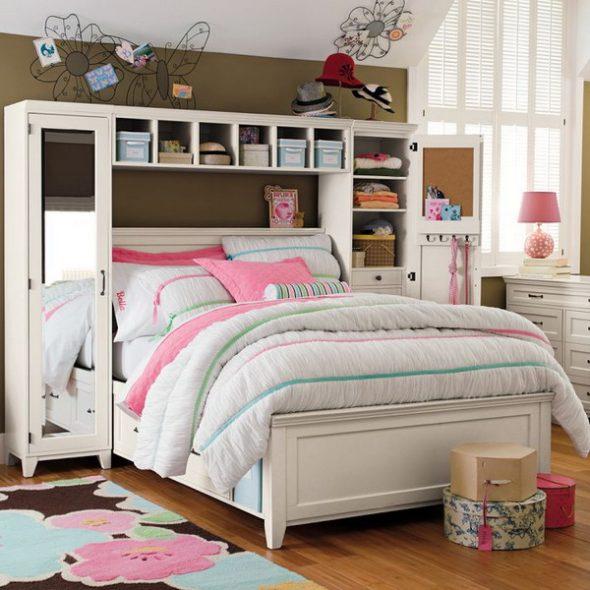 Модульная мебель для комнат девочки