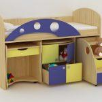 детская кровать с бортиками модульная