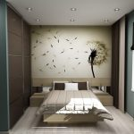 Оформление стены над кроватью в спальне фото