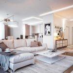 белая мебель оформление гостиной