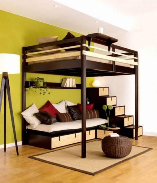 Стильная двухъярусная кровать