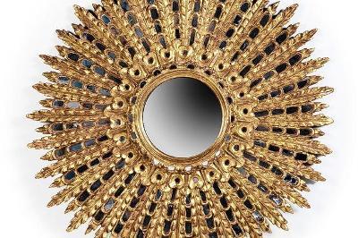 Стильное зеркало-солнце