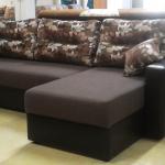 Угловой диван-трансформер, модель