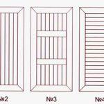 Варианты рисунков при отделке дверей вагонкой