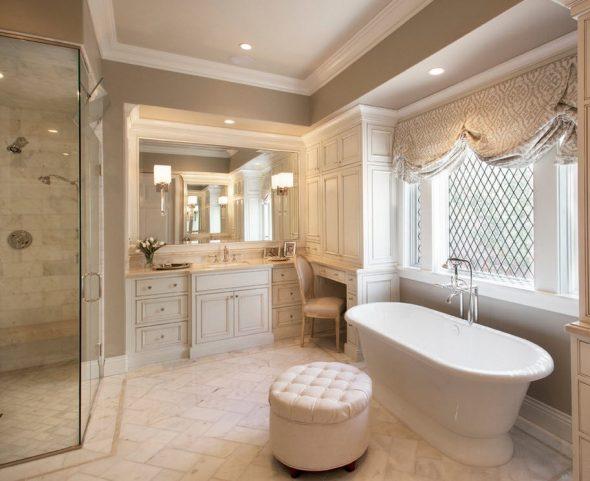 зеркало в ванной классика