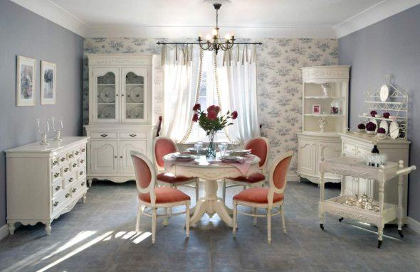 белая мебель из дерева