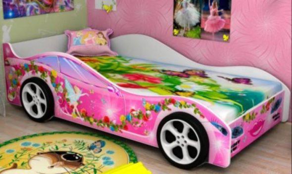 кровать бельмарко розовая