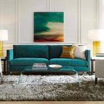 бирюзовый диван дизайн