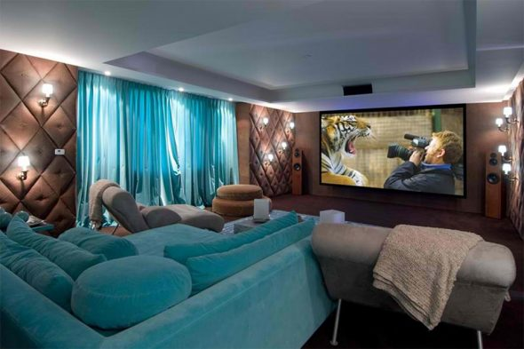 бирюзовый диван фото